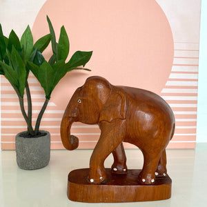 Baby wood carved elephant