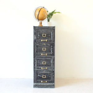Antique Cerused Filing Cabinet