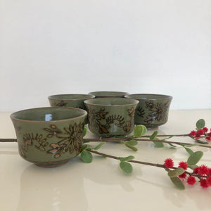 5  Ceramic Tea Cups