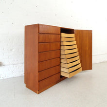 Load image into Gallery viewer, Teak Danish Modern Extra Large Highboy