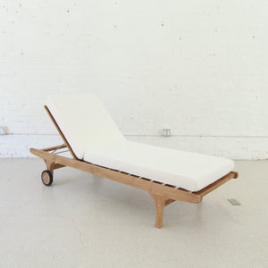 Riza Solid Teak Outdoor Lounger