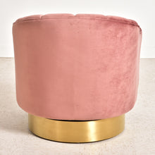 Load image into Gallery viewer, Space Odyssey Swivel Chair in Dusty Rose