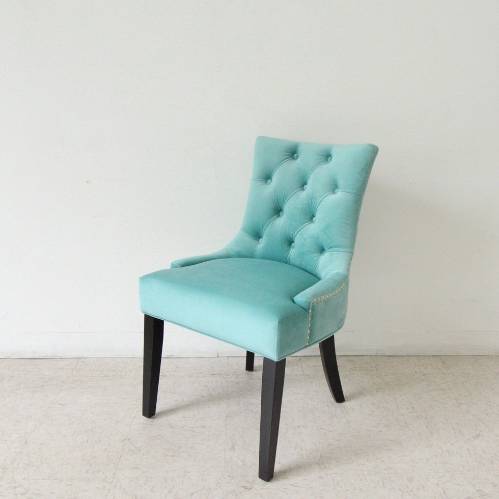 Lizzy Teal Green Tufted Dining Chair