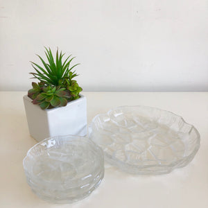 Hoya Glass Serving Bowl and 3 Dishes
