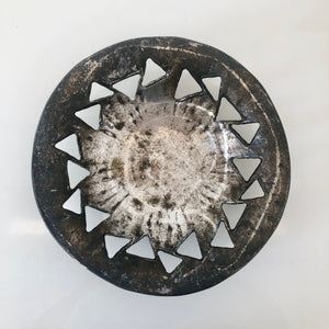 Brass Brutalist Decorative plate