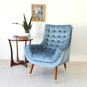 """Soto"" Chair in Dusty Blue"