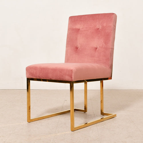 Rose Velvet Brass Dining Chair