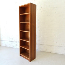 Load image into Gallery viewer, Danish Teak  Narrow Bookshelf