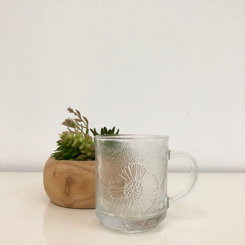 Embossed Glass Flower Power Cup