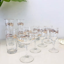 Load image into Gallery viewer, Gold wheat Assorted Glasses - set of 9