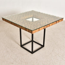 Load image into Gallery viewer, Modern Square Wood Mosaic Dining Table