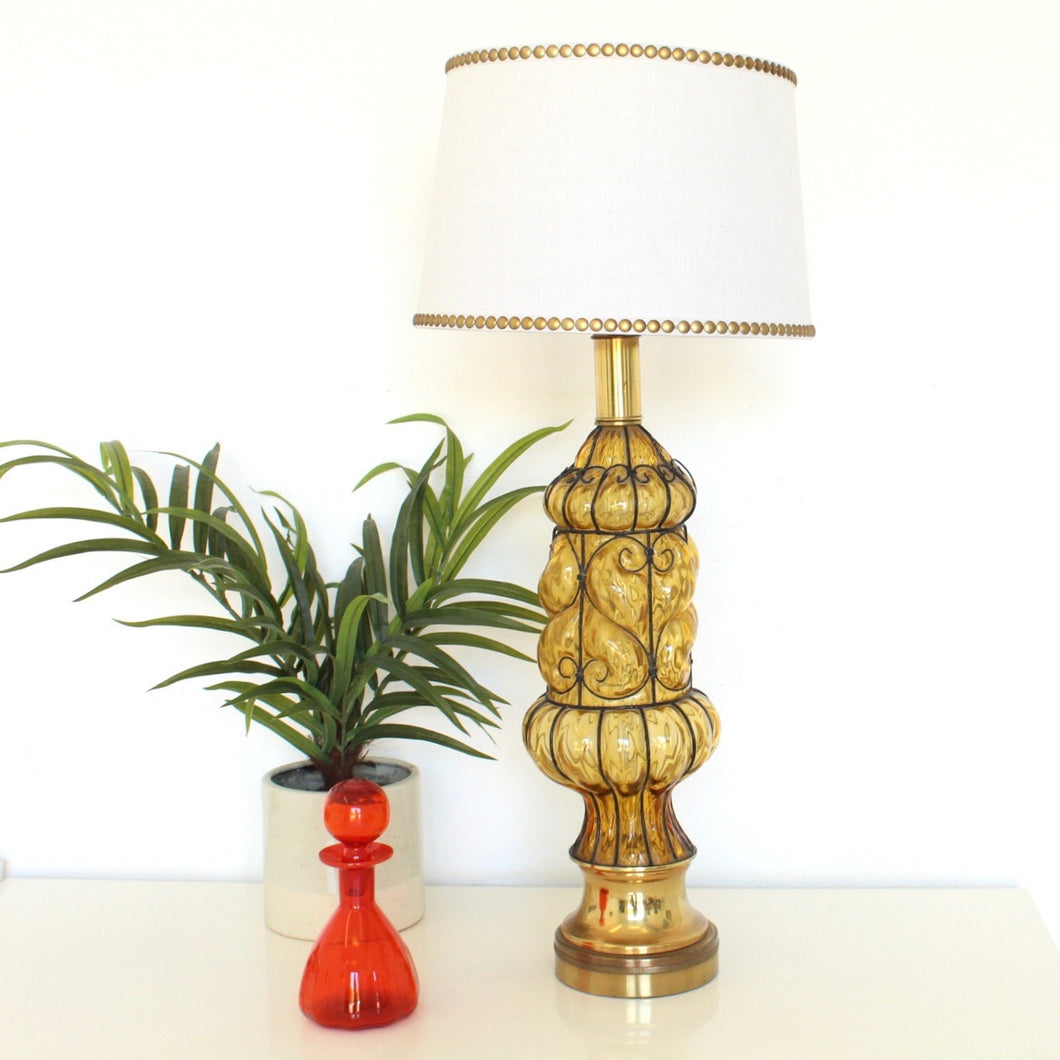 1960's Handblown Glass Table Lamp
