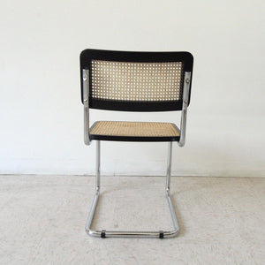 Black and Wicker Chrome Chair