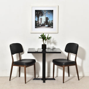 Black Ebonized Wood 4 Person Dinette Table