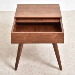 Blanche Walnut Side Table w/ Hidden Compartment