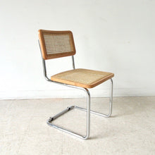 Load image into Gallery viewer, Italian Style Wicker and Chrome Chair