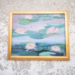 Lily Painting with Gold Frame