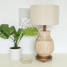 Load image into Gallery viewer, Vintage Coffee Cream Vintage 1960's Lamp