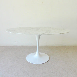"60"" Oval Faux Marble Dining Table"