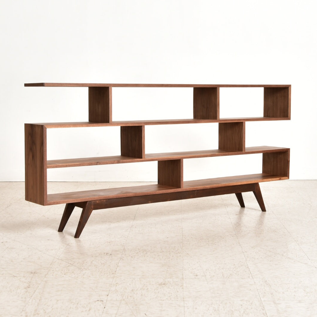 Maddy Sleek Walnut Shelf