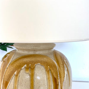 Amber Glazed Large Lamp
