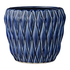 Ceramic Appealing Navy Flower Pot