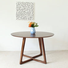 "Load image into Gallery viewer, ""Melbourne"" Walnut Round Dining Table"
