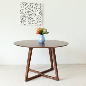 """Melbourne"" Walnut Round Dining Table"