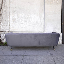 Load image into Gallery viewer, Velvet Grey Sofa w/ black legs