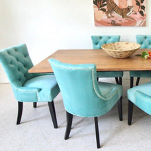 Load image into Gallery viewer, Lizzy Teal Green Tufted Dining Chair
