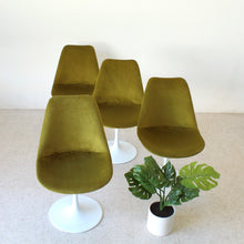 Load image into Gallery viewer, Olive Green Tulip Chair Newly Upholstered