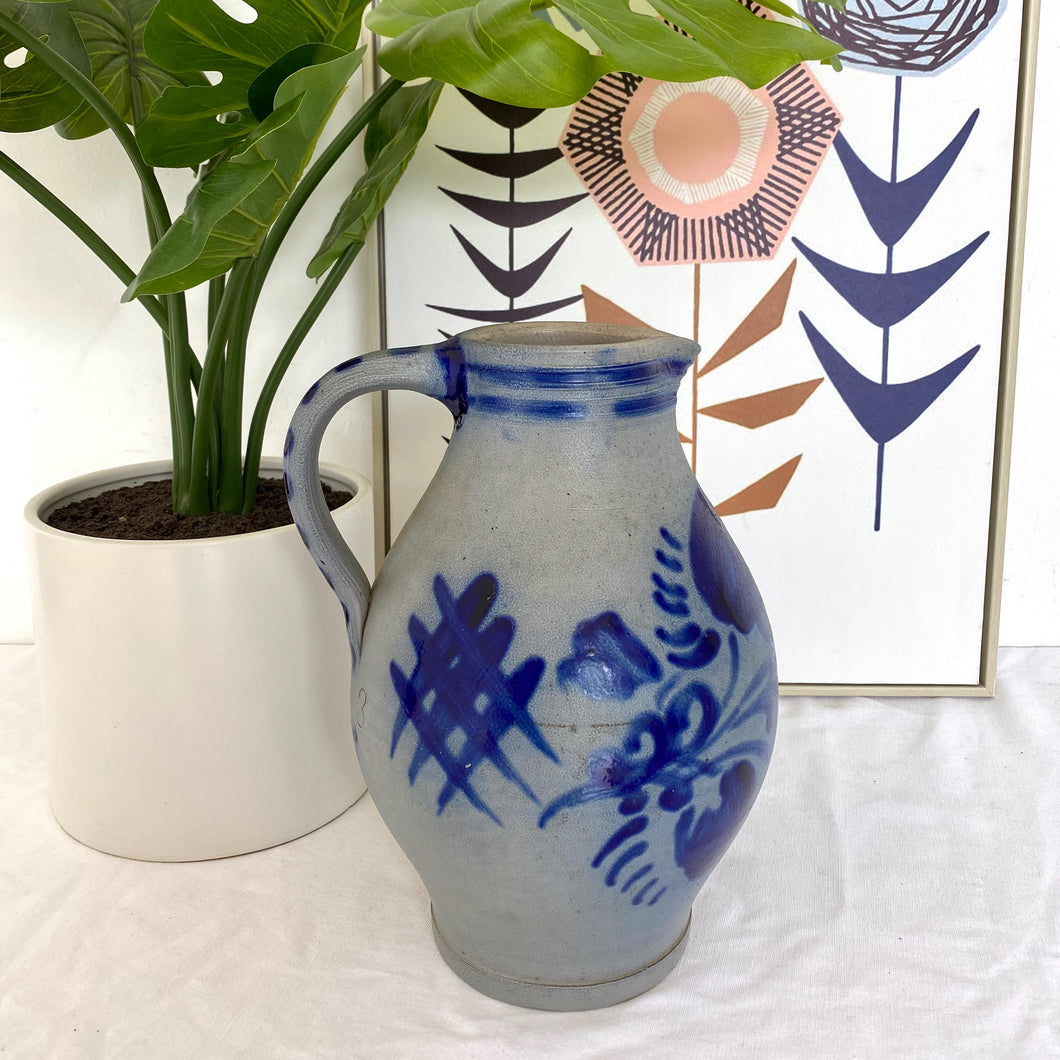 Hand-Painted Antique Pottery Jug