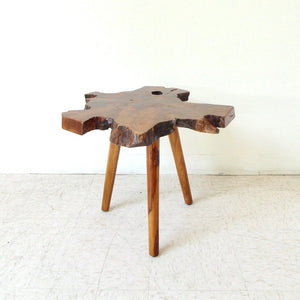 Solid Slab Spalted Wood Side Table