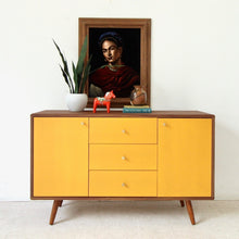 Load image into Gallery viewer, Mika Cabinet Buffet Credenza in Mustard