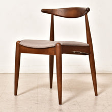 Load image into Gallery viewer, Dark Wood Scandinavian Dining Chair