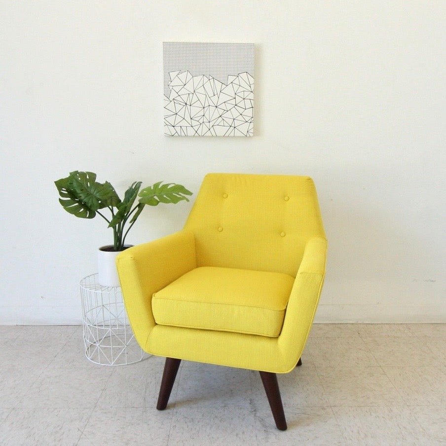 """Thelma""Yellow Club Chair"