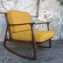 Load image into Gallery viewer, Mid Century Elliot  Mustard Rocking Chair