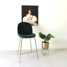 "Load image into Gallery viewer, ""Serena"" Dark Green Counter-height Stool"
