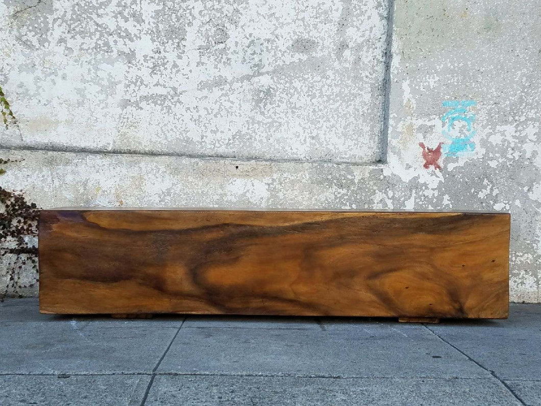 Solid Trunk Rosewood Bench