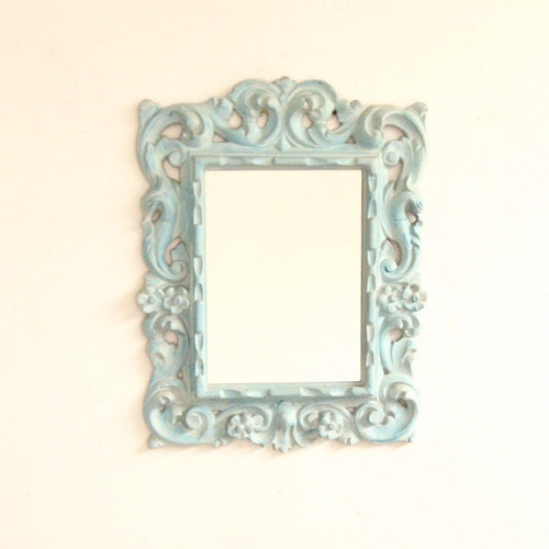 Blue Ornate  Mirror