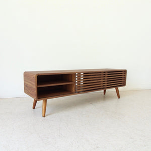 Walter Slat Media Cabinet with Rounded Corners