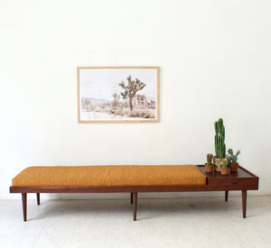 Walnut Long Bench Customizable Size and Color