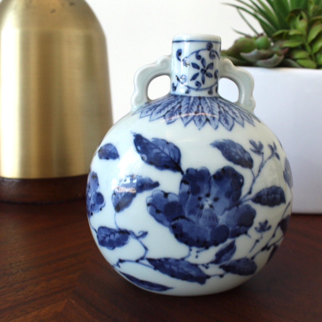 Hand Painted Blue and White  Vase