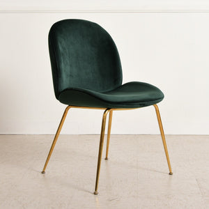 Green Clam Chair with Gold Legs