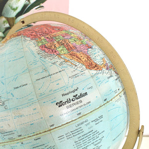 Gold Atomic Base Globe