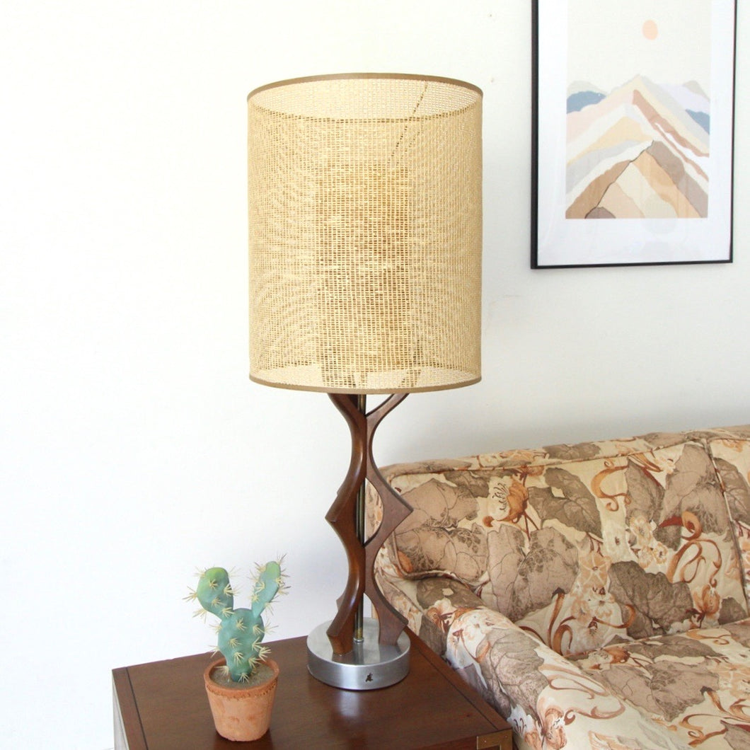 Walnut Scandinavian Lamp