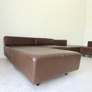 Harvey Probber Leather Cubo  Sectional Sofa