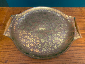 1960's Large Gold Leaf Tray