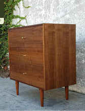 Load image into Gallery viewer, Three Drawer American Walnut Dresser