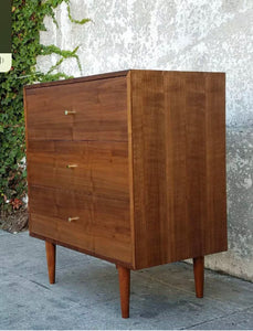 Three Drawer American Walnut Dresser